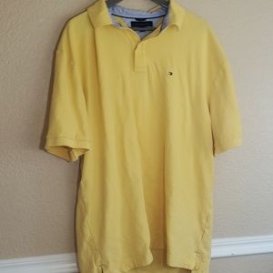 Tommy Hilfiger yellow polo like new